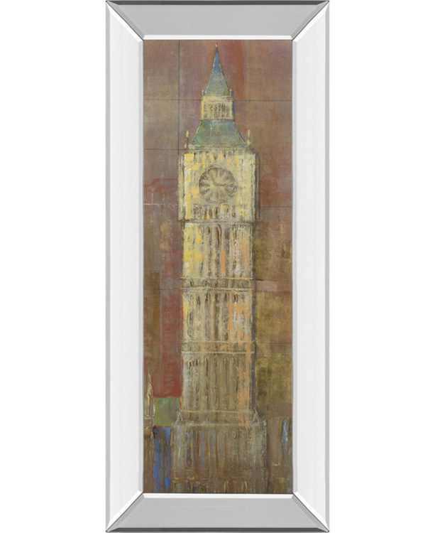"Big Ben by Longo Mirror Framed Print Wall Art, 18"" x 42"""