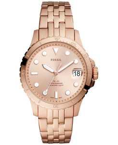 Women's Blue Diver Rose Gold-Tone Stainless Steel Bracelet Watch 36mm