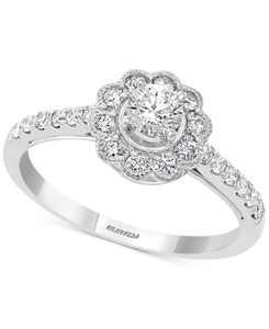 EFFY Diamond Flower Statement Ring (5/8 ct. t.w.) in 14k White Gold