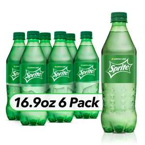 Sprite Lemon Lime Soda Soft Drinks, 16.9 fl oz, 6 Pack