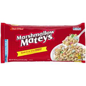Malt-O-Meal Marshmallow Mateys Breakfast Cereal, Super Size Bulk Bagged Cereal, 38 Ounce - 1 count