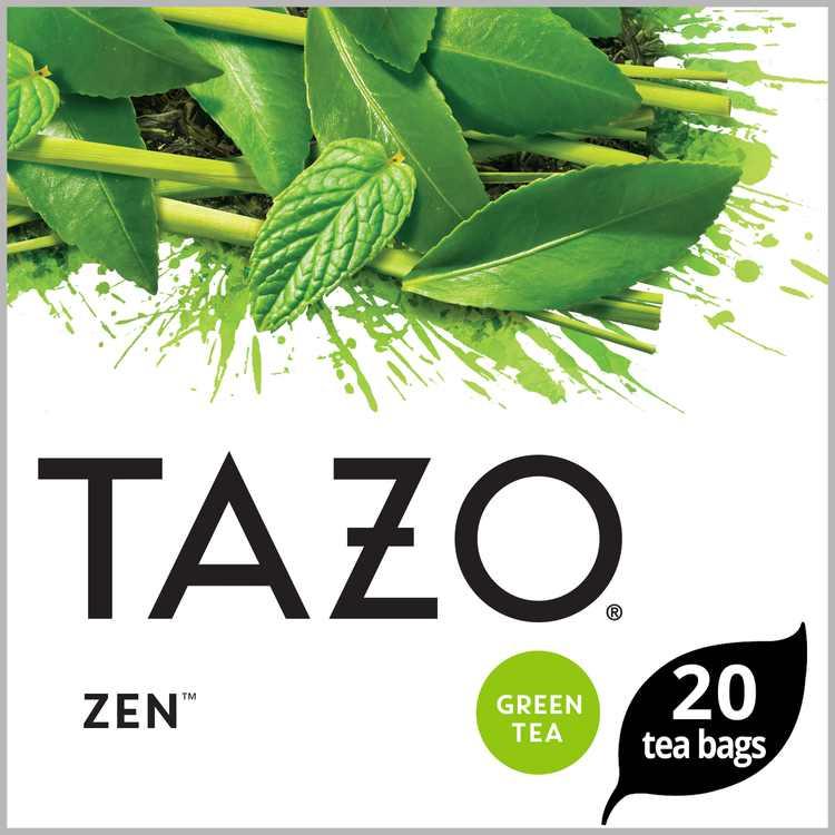 Tazo Tea Bags Green Tea For an Calming Beverage Moderately Caffeinated Tea 20 Tea Bags