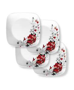Boutique 10.5 Inch Dinner Plate Chelsea Rose 4 Pack