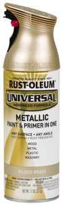 Gilded Brass, Rust-Oleum Universal All Surface Interior/Exterior Metallic Spray Paint, 11 oz