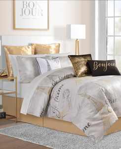 CLOSEOUT! Je T'aime Paris 14-Pc. Queen Comforter Set