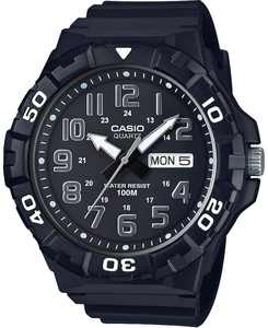 Men's Black Resin Strap Watch 50mm
