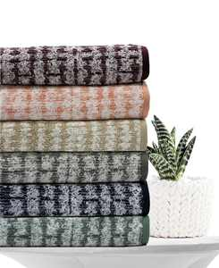 Ultimate MicroCotton Mosaic Bath Towel Collection, Created for Macy's