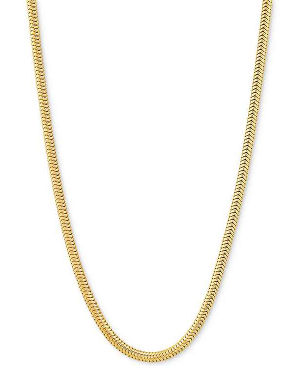 "Snake Link 30"" Chain Necklace in 18k Gold-Plated Sterling Silver"