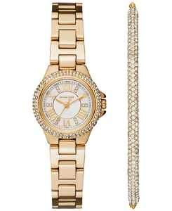 Women's Petite Camille Stainless Steel Bracelet Watch 26mm Gift Set