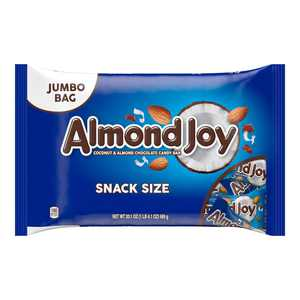 ALMOND JOY, Coconut and Almond Chocolate Snack Size Candy Bars, Individually Wrapped, 20.1 oz, Jumbo Bag