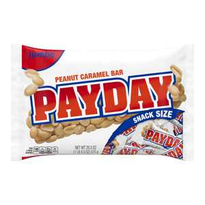 Payday, Halloween Peanut Caramel Snack Size Candy Bars, 20.3 Oz.