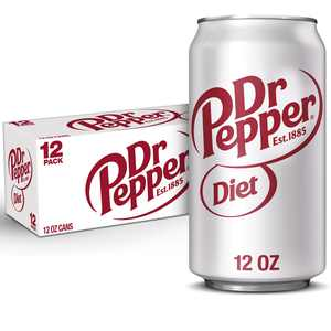Diet Dr Pepper Soda, 12 fl oz cans, 12 pack