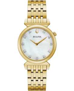 Women's Regatta Diamond-Accent Gold-Tone Stainless Steel Bracelet Watch 30mm