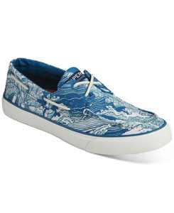 Men's Bahama Coral Print Boat Shoes