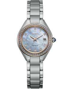 Eco-Drive Women's Silhouette Crystal Stainless Steel Bracelet Watch 26mm