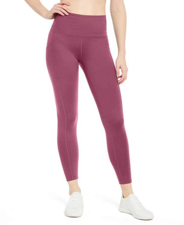 High-Waist Side-Pocket 7/8 Leggings, Created for Macy's