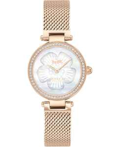 Women's Park Carnation Rose Gold-Tone Stainless Steel Mesh Bracelet Watch 26mm