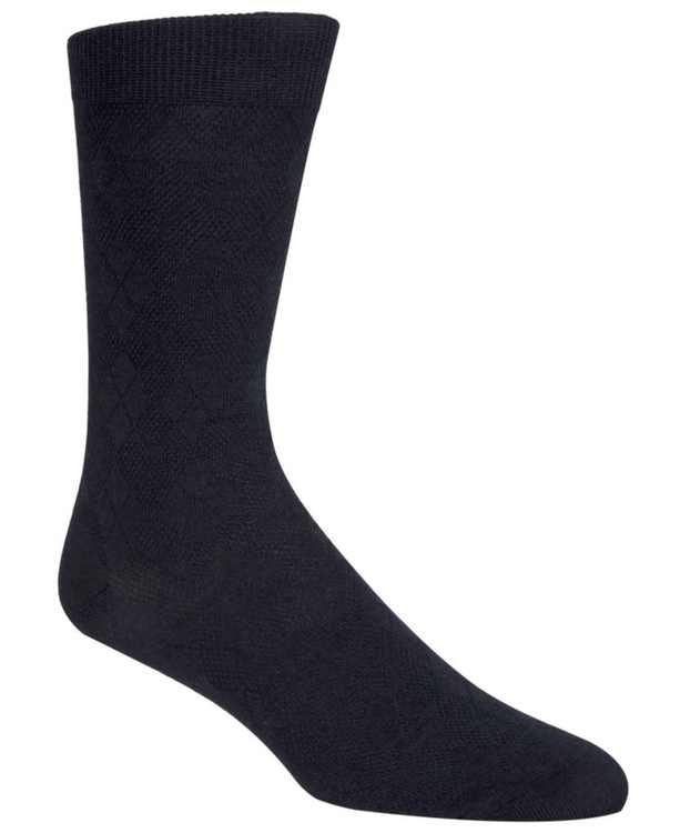 Men's Tonal Argyle Crew Socks