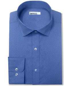 Men's Organic Cotton Link-Print Slim Fit Dress Shirt, Created for Macy's