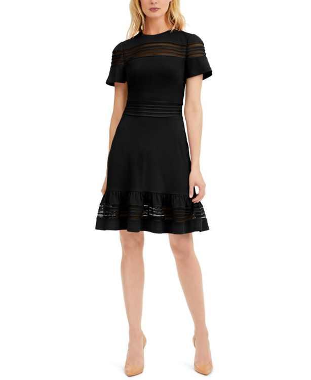 Mesh-Mix Dress, Regular & Petite Sizes