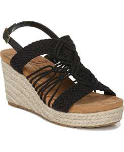 Palm Woven Platform Wedge Espadrille Sandals