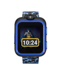 Kids PlayZoom DC Comics Blue Batman Strap Touchscreen Smart Watch 42x52mm