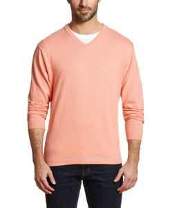 Men's Long Sleeve V-neck Sweater
