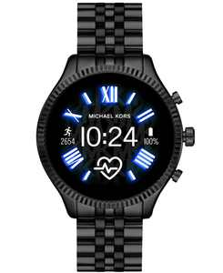 Access Unisex Gen 5 Lexington Black Stainless Steel Bracelet Touchscreen Smart Watch 44mm
