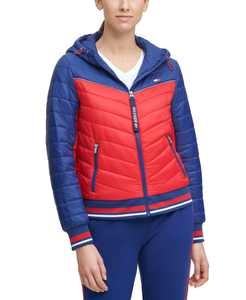 Colorblocked Quilted Jacket