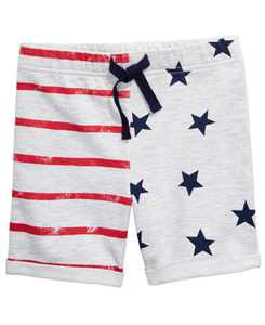 Baby Boys Red, White & Blue Printed Shorts, Created for Macy's