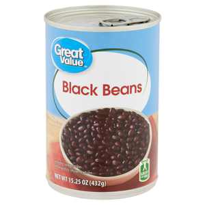 Great Value Black Beans, 15.25 oz Can