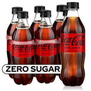 Coke Zero Sugar Soda Soft Drink, 16.9 fl oz, 6 Pack