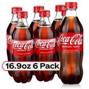 Coca-Cola Bottles, 16.9 fl oz, 6 Pack