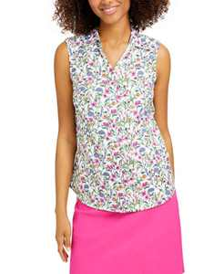 Floral-Print Sleeveless Shirt, Created for Macy's