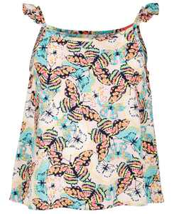 Big Girls Butterfly-Print Challis Top, Created for Macy's