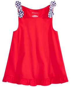 Baby Girls Cotton Flounce Knot Tank Top, Created for Macy's