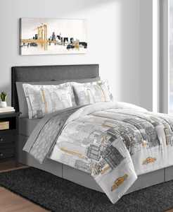New York 8-Pc. Queen Comforter Set
