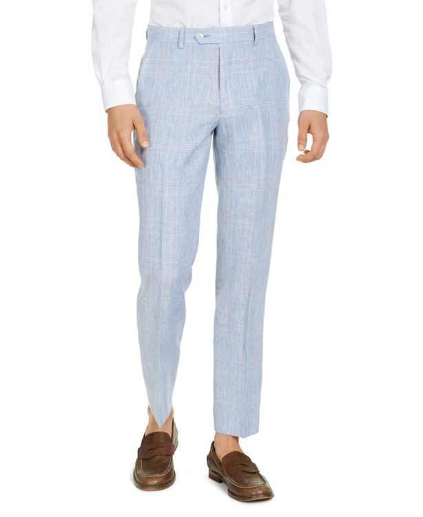 Men's Modern Fit Linen Suit Separate Pants