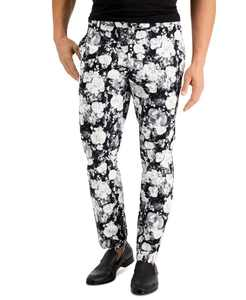 INC Men's Slim-Fit Floral-Print Pants, Created for Macy's