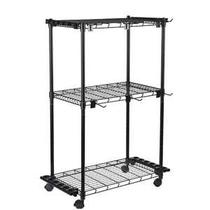 Old Cedar Outfitters Tackle Trolley with Adjustable Shelves and Racks to Store Up to 12 Fishing Rods