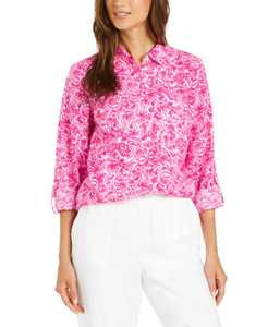 Linen Printed Blouse, Created for Macy's