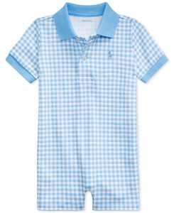 Ralph Lauren Baby Boys Gingham Cotton Polo Shortall
