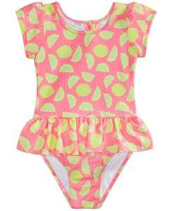 Toddler Girls 1-Pc. Lemons & Sunshine Printed Swimsuit