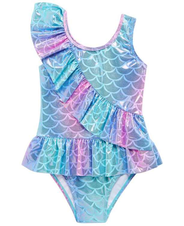 Little Girls 1-Pc. Mermaid Ruffle Swimsuit