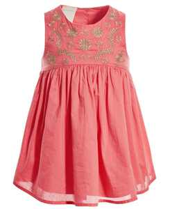 Baby Girls Embroidered Dress & Bloomer Set