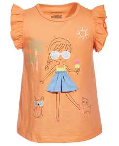 Baby Girls Graphic Cotton Top, Created for Macy's