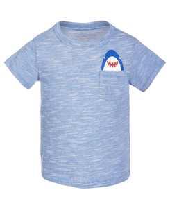 Baby Boys Shark Pocket T-Shirt, Created for Macy's