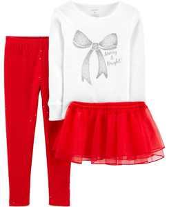 Toddler Girl 3-Piece Loose Fit PJs