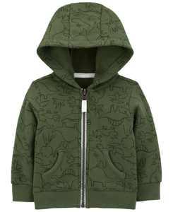 Baby Boys Dinosaur Zip-Front Fleece Jacket