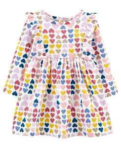 Baby Girls Heart Jersey Dress